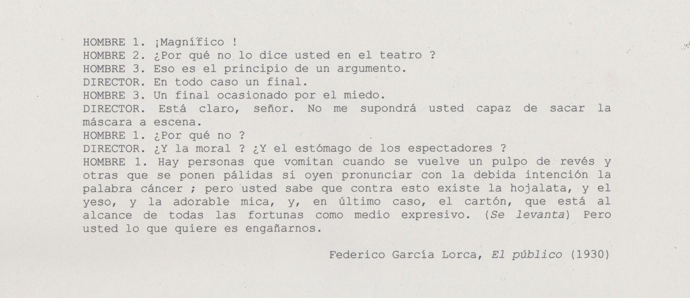 Cita Lorca, El público